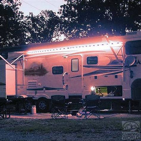under awning lighting warm led awning lights permanently install on your rv
