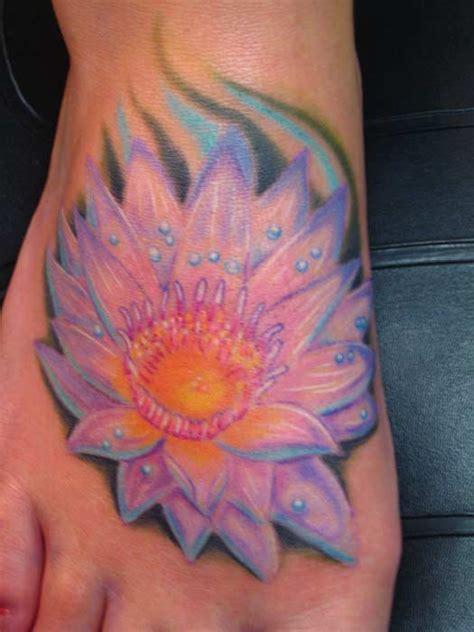 lotus tattoo on foot lotus foot tattoo by phil robertson tattoos