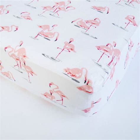 flamingo bedding baby girl bedding flamingo crib sheet changing pad cover pink mint fitted sheet