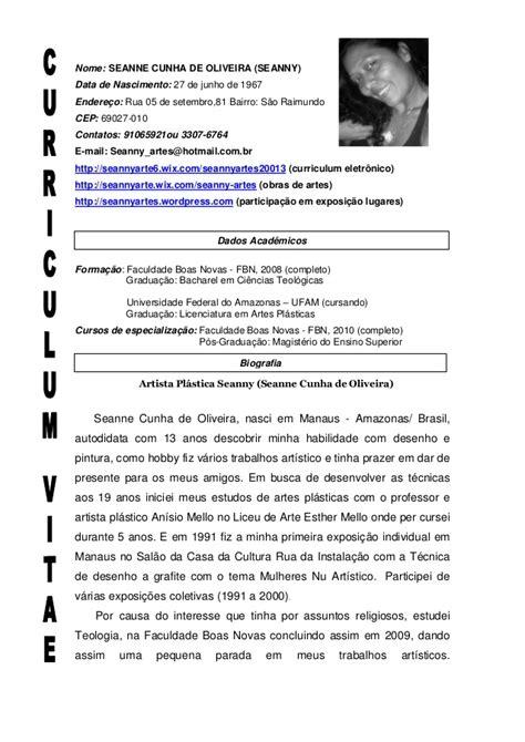 Modelo Curriculum Artistico Curriculum Artistico Atual2013