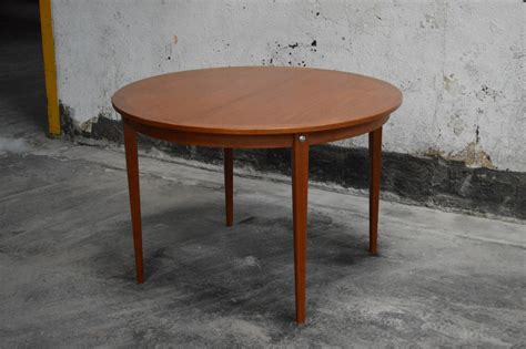 mid century swedish modern oval dining table by edmond mid century modern round swedish teak dining table for