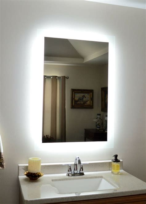 lighted vanity mirror   wall mounted led bath mirror mam side lig ebay