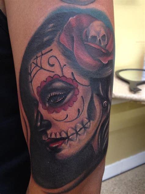 tatdia de la muerte girl tattoo   mike diaz