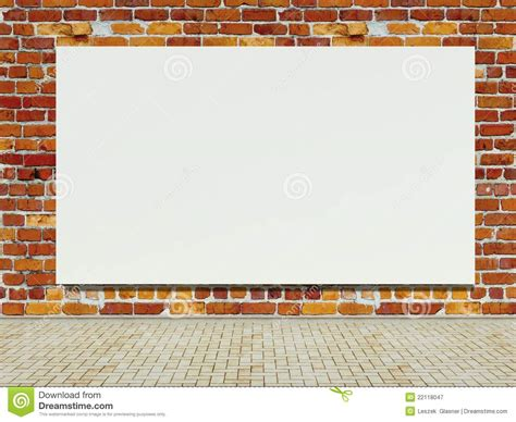 680 best vintage outdoor wall advertising art images blank advertising billboard on brick wall royalty free stock photography image 22118047