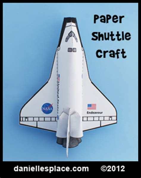 Space Shuttle Papercraft - educational crafts for from danielle s place of