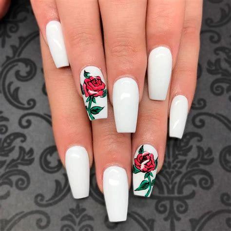 rose pattern nails best 25 acrylic nails ideas on pinterest acrylics nail