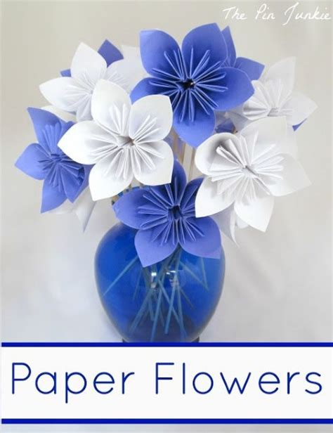 Easy Handmade Flowers - diy paper flower crafts and projects pink lover