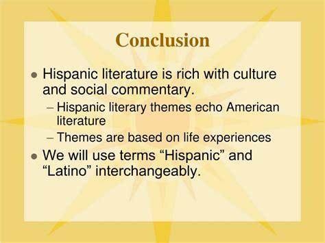 Themes In Hispanic Literature | ppt hispanic literature powerpoint presentation id 234961