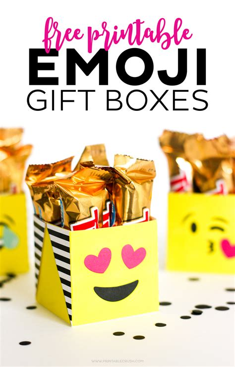 free gift ideas free printable emoji gift boxes printable crush