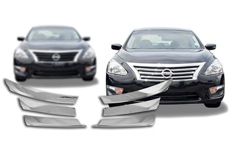 chrome nissan 2013 2015 nissan altima chrome grille insert overlay trim