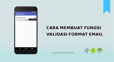 email format validation in android cara membuat fungsi validasi format email java
