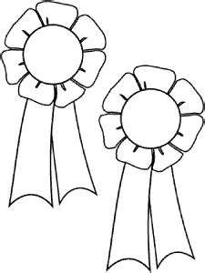 coloring page prize ribbon prizes and awards coloring pages medals trophy