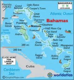 bahamas map geography of bahamas map of bahamas