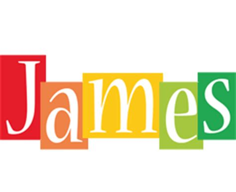 name style design james logo create custom james logo colors style