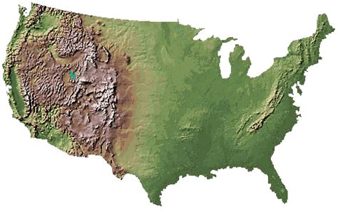 topographical map of united states digital elevation model