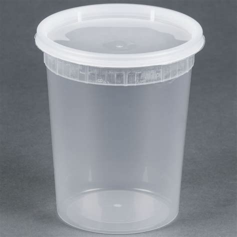 32 oz microwavable translucent plastic deli container