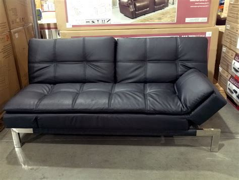 costco couch bed leather futon costco roselawnlutheran