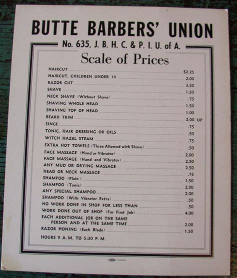 haircut price list this barber shop price list has to make it into our scenic