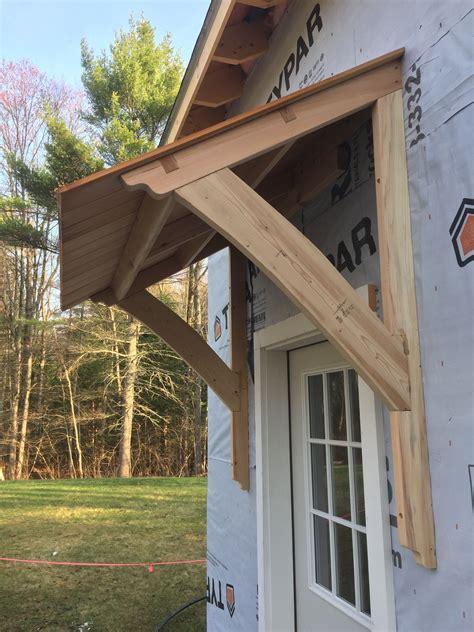 awning barn mortiseandtenon cedar porch roof house