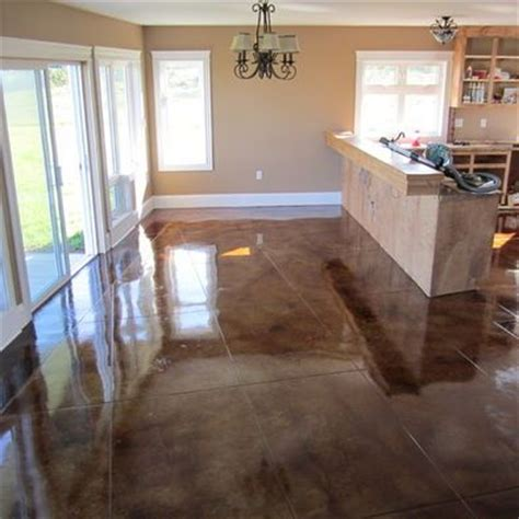 stained concrete floors home environment