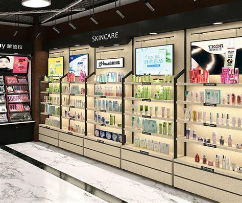 Rak Dinding Untuk Kosmetik 18mm tebal toko eceran rak kosmetik desain dinding penyimpanan