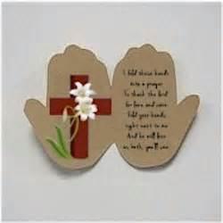 handprint easter prayer