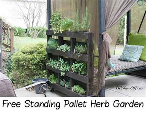 Free Standing Herb Garden by Free Standing Pallet Herb Garden Lil Moo Creations