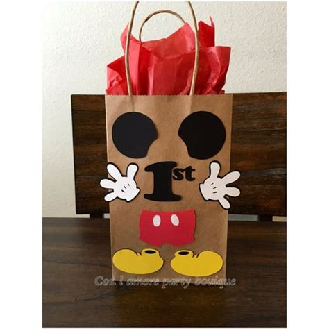 Mickey Mouse Birthday Giveaways - mickey mouse birthday party favor bag goody bag first birthday decorations mickey
