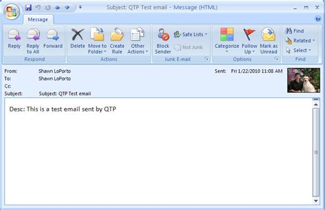 Find From Email Qtp Send Outlook Email Asi