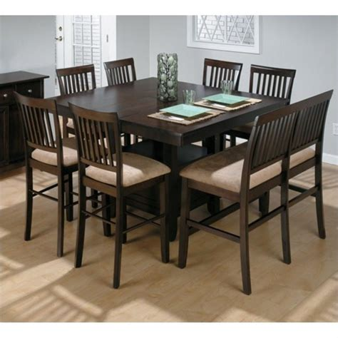 jofran 373 series counter height 8 dining table set
