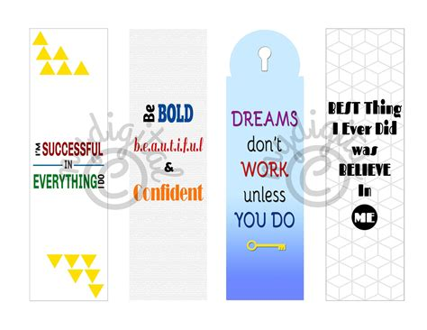 printable bookmarks with quotes digital download gallery printable bookmarks with quotes