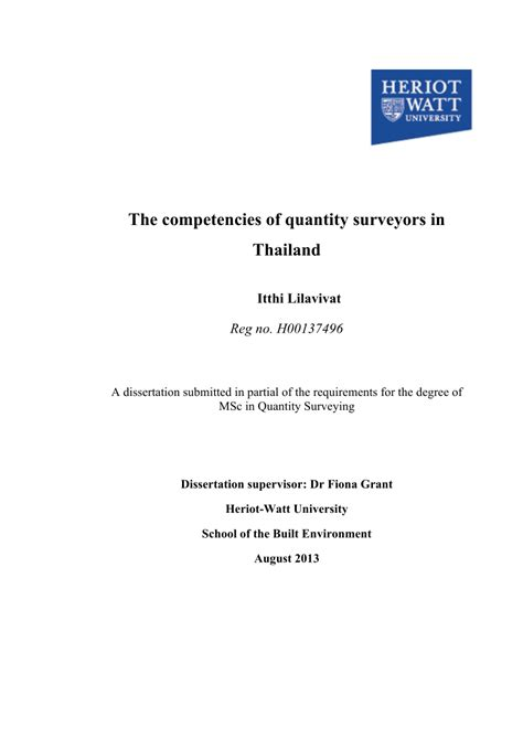 quantity surveying dissertation experience certificate sle for quantity surveyor images