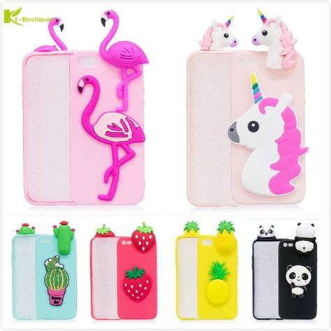 Casing Hp Iphone 5 5s 5se 3d Soft Silikon Line Brown Cony kl boutiques 3d unicorn for iphone 5 5s 5g