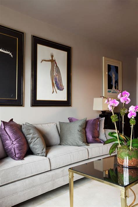 Grey And Mauve Living Room by How To Use Purple In Stunning Looking Living Rooms