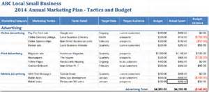 marketing plan template builder for tactics and budget