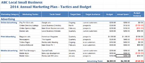 6 month marketing plan template marketing plan template builder for tactics and budget