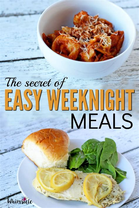 prepare ahead dinner the secret to easy weeknight meals whimsicle