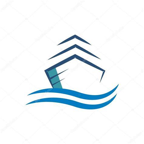 boat transport business logo yacht transportation sailboat stock vector