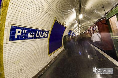 metro porte des lilas quai de la station fant 244 me porte des lilas cin 233 ma 224