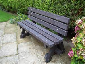 Recycled Plastic Garden Bench ribble garden bench with backrest trade