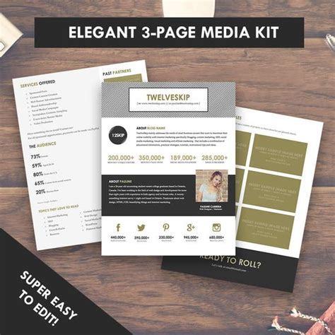press kit template media kit template press kit 3 pages