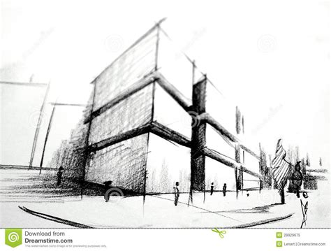 pencil drawings buildings building sketch stock photos sketch architecture stock illustration image of pencil