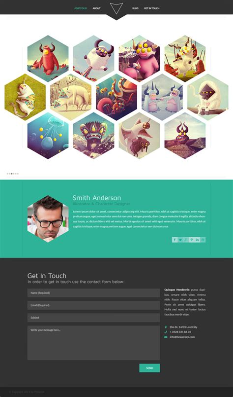 20 Free High Quality Psd Website Templates Hongkiat Web Developer Portfolio Templates