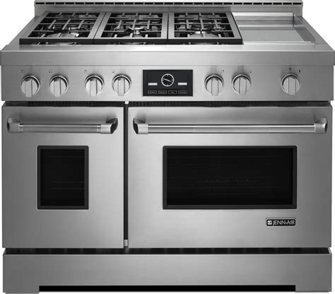 jenn air kitchen appliances jgrp548wp jenn air 48 quot touch screen gas range with