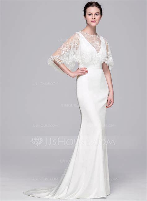 Sheath Wedding Dress by Sheath Column V Neck Sweep Satin Wedding Dress