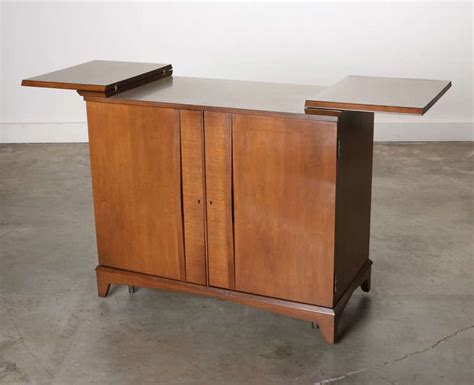 mid century hide a way bar liquor cabinet at 1stdibs