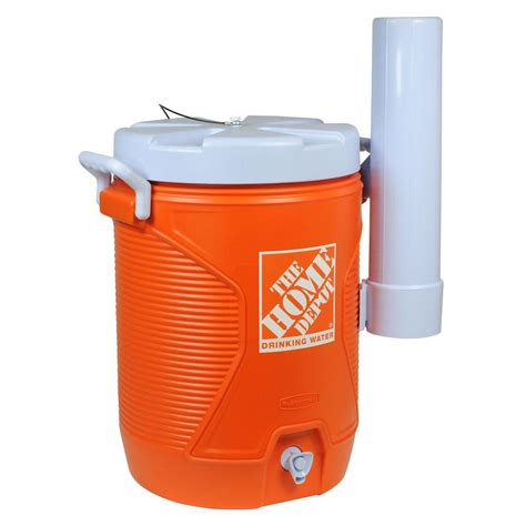 the home depot 20 qt orange water cooler 1787500 the