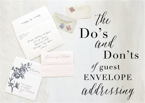 How To Address Wedding Invitations With Guest