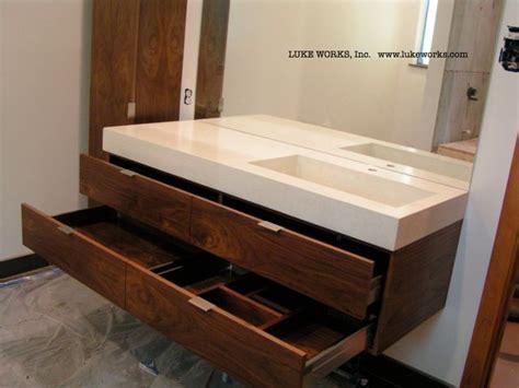 cabinet pulls modern bathroom contemporary with bathroom walnut vanity