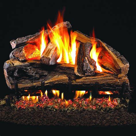 peterson gas logs 18 inch rugged split oak logs logs only
